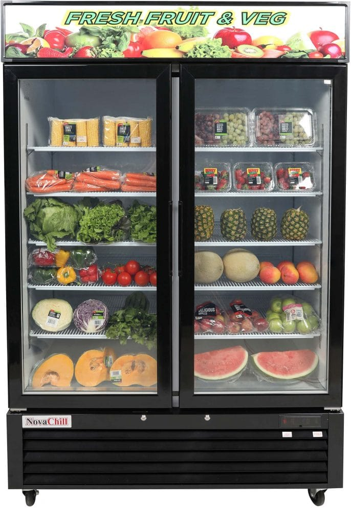 Two door commercial display fridge