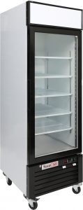 Single door display freezer